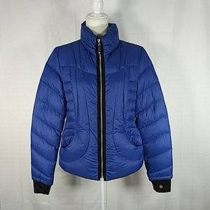 Halifax Traders blue packable down jacket M 0314